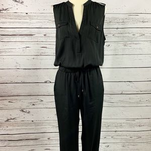 Arden B Black Sleeveless Jumpsuit